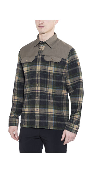 Fjällräven Granit - Camisas de manga larga Hombre - marrón